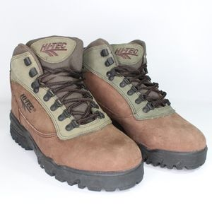 Vtg New Hi Tec Mens 10.5  Huron Hiking Boots Brown